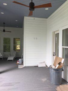 Custom AV integration and installation of a waterproof outdoor Sunbrite TV in Madisonville, Louisiana